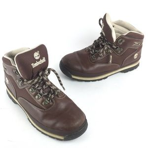 Timberland Brown Leather Boots Boys 5
